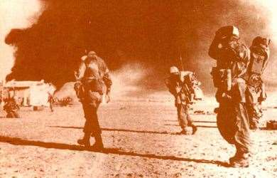 British paratroops take Egypt's El Gamil airfield during the Suez crisis of 1956