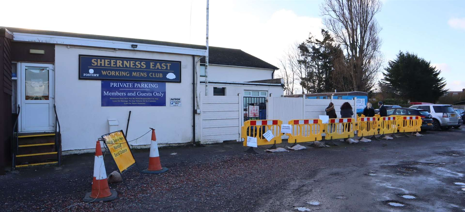 A testing site is open at Sheerness East Working Men's Club on Sheppey