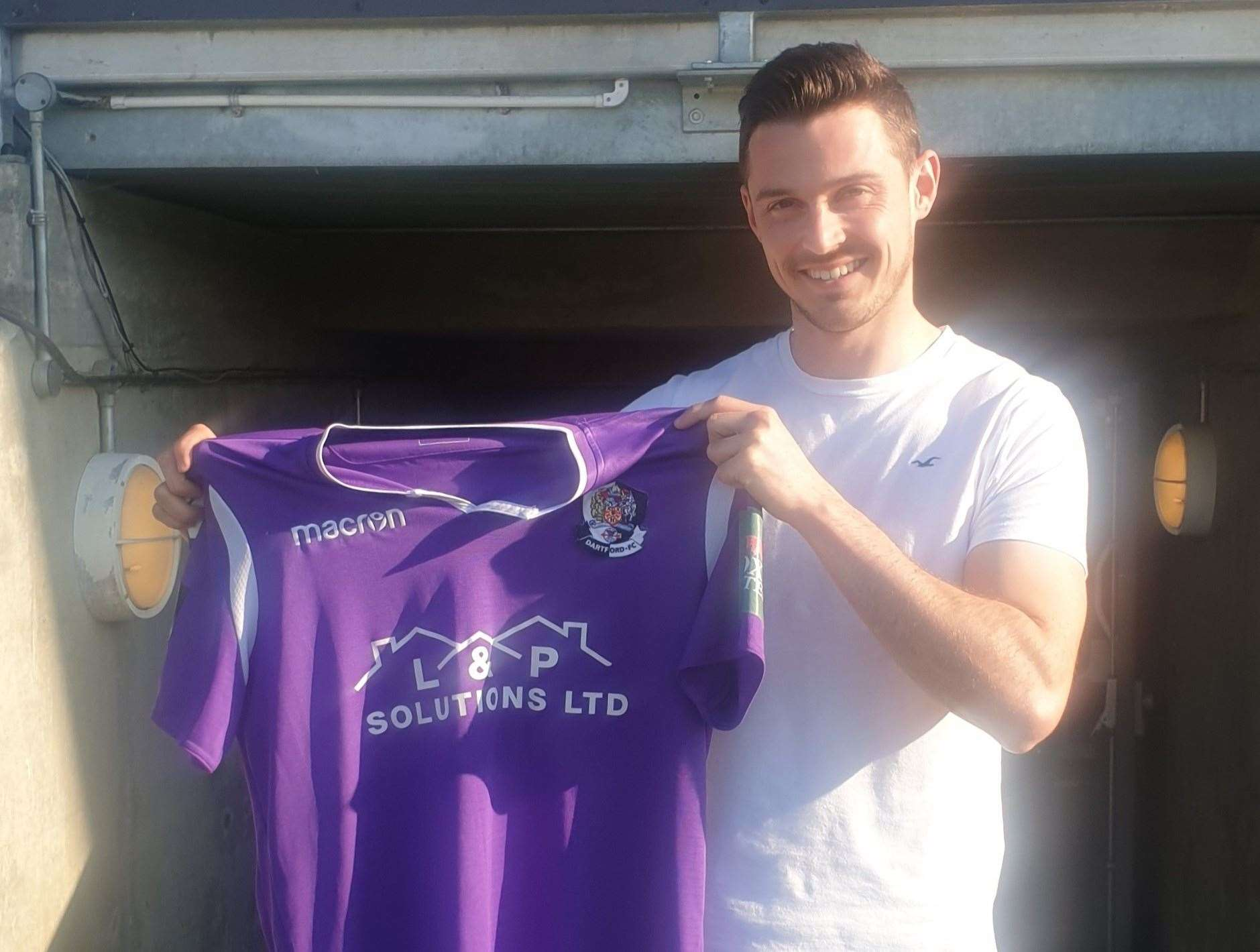 Dartford's new signing Luke Allen