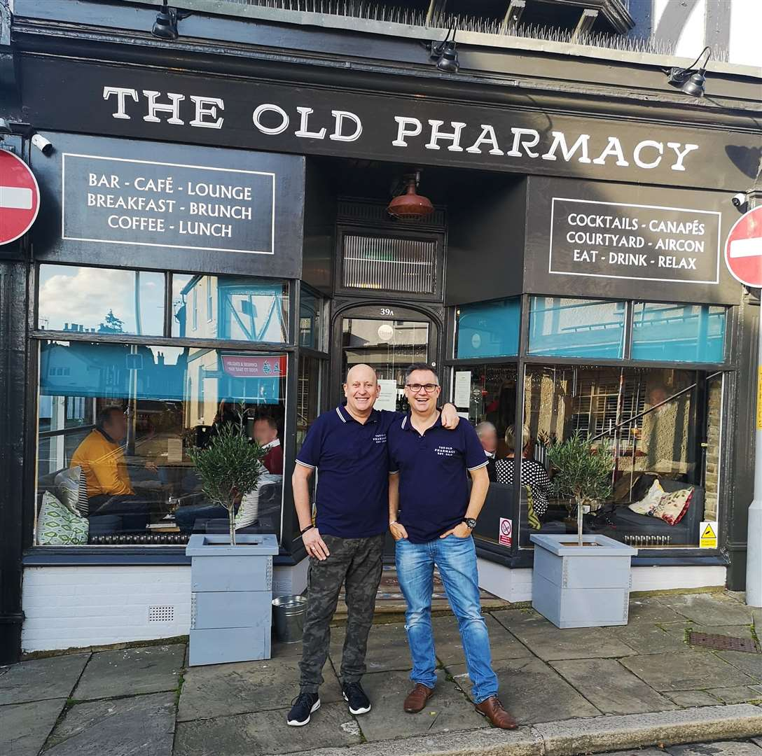 Andrew Ayers and business partner David have opened The Old Pharmacy in Sandwich