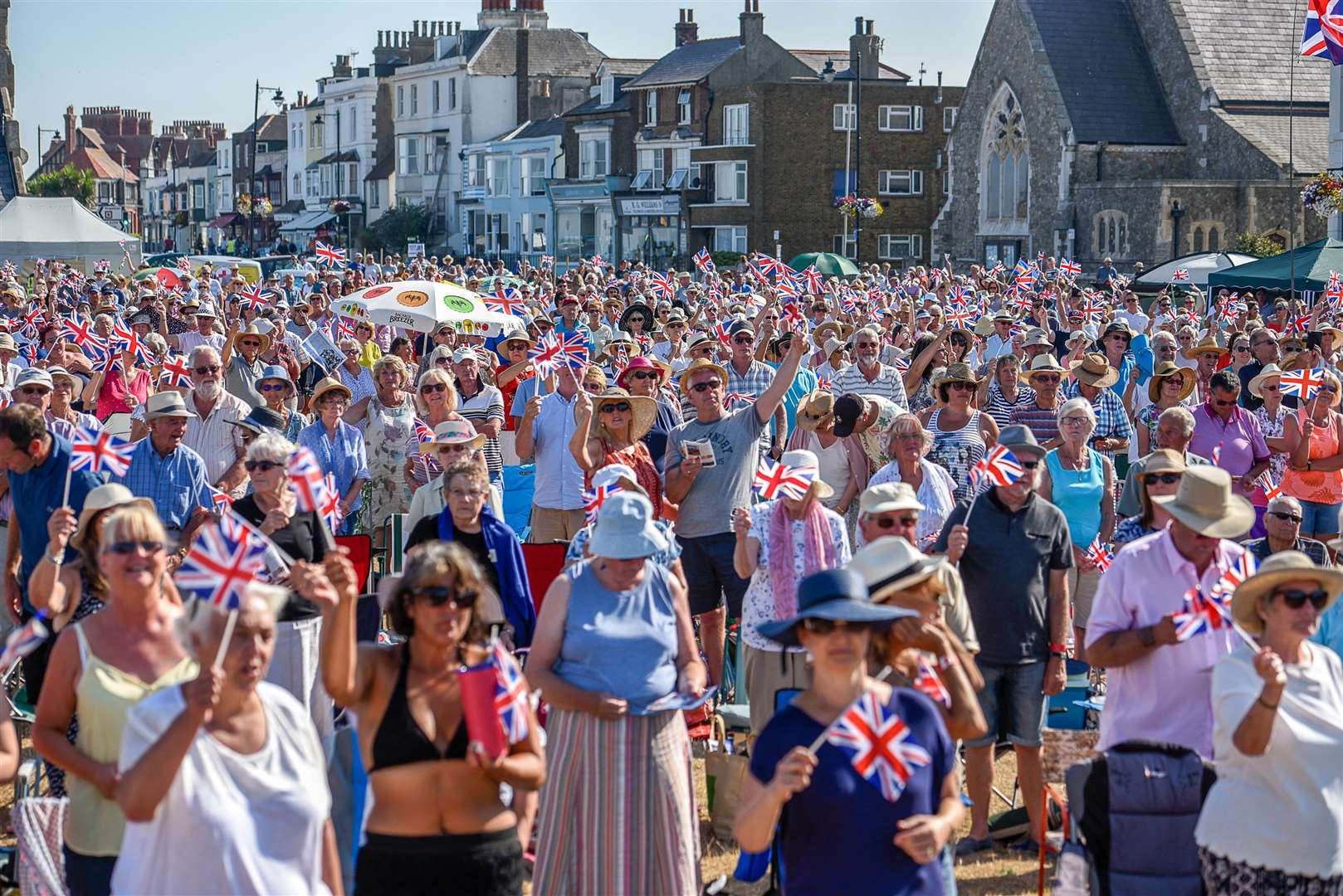The annual Royal Marines concert in Walmer is enjoyed by thousands of people