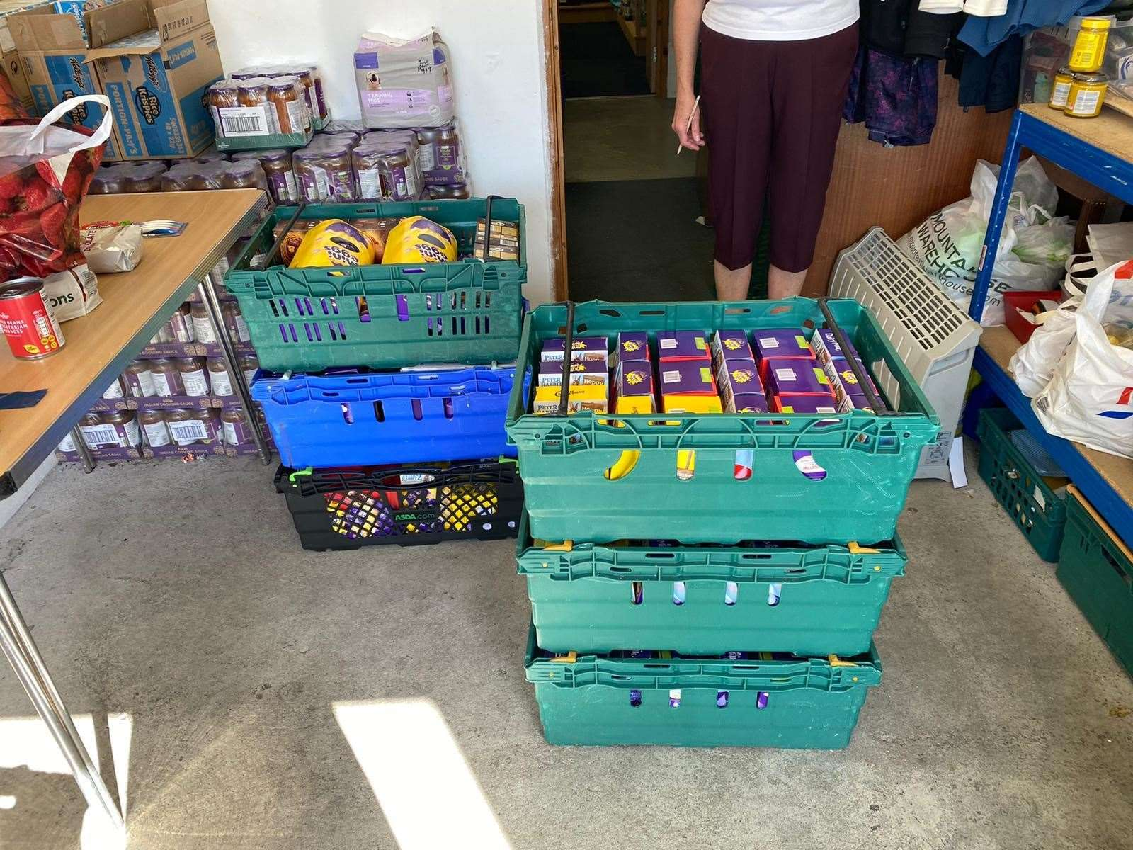 Priory Fields School donated 95 Easter eggs to Dover Foodbank