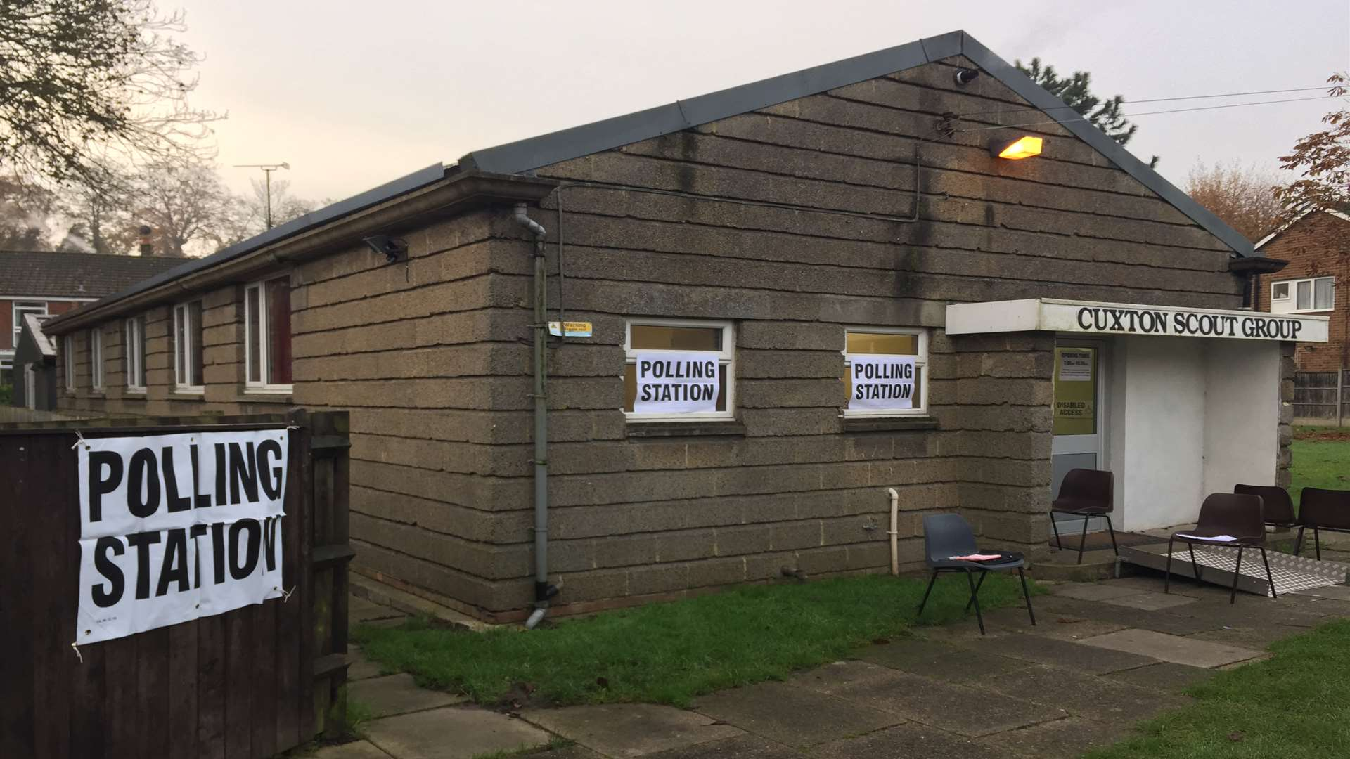 The polling stations have closed
