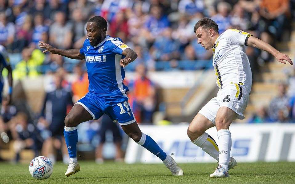 Mark Marshall on the ball for the Gills Picture: Ady Kerry