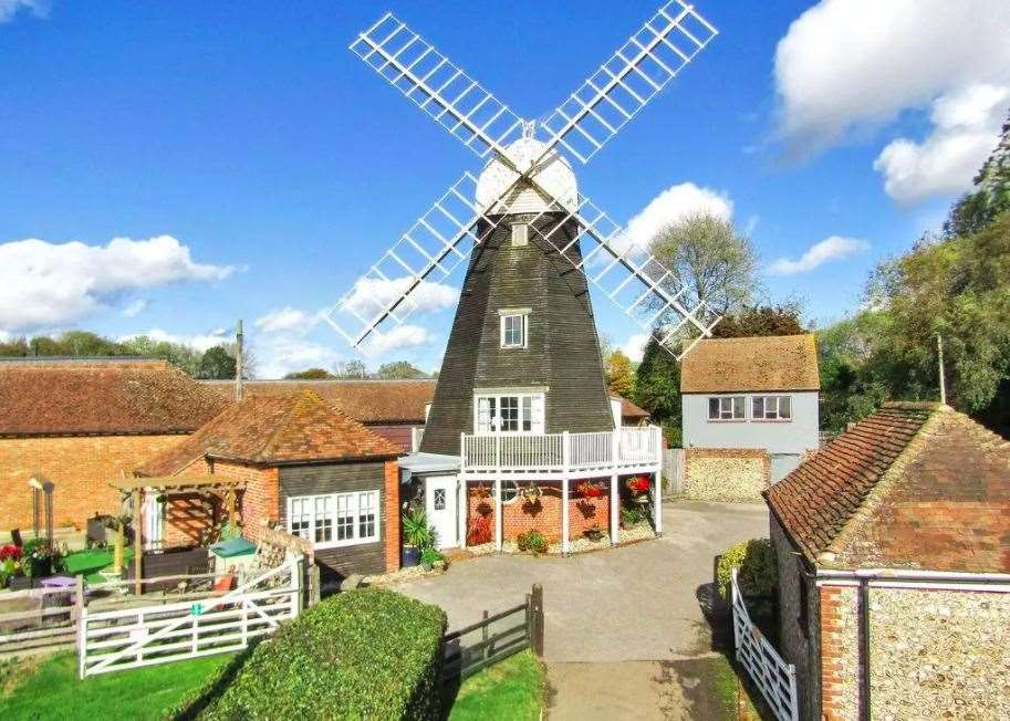 A Grade-II listed windmill house is on the market. All photos: OnTheMarket.com