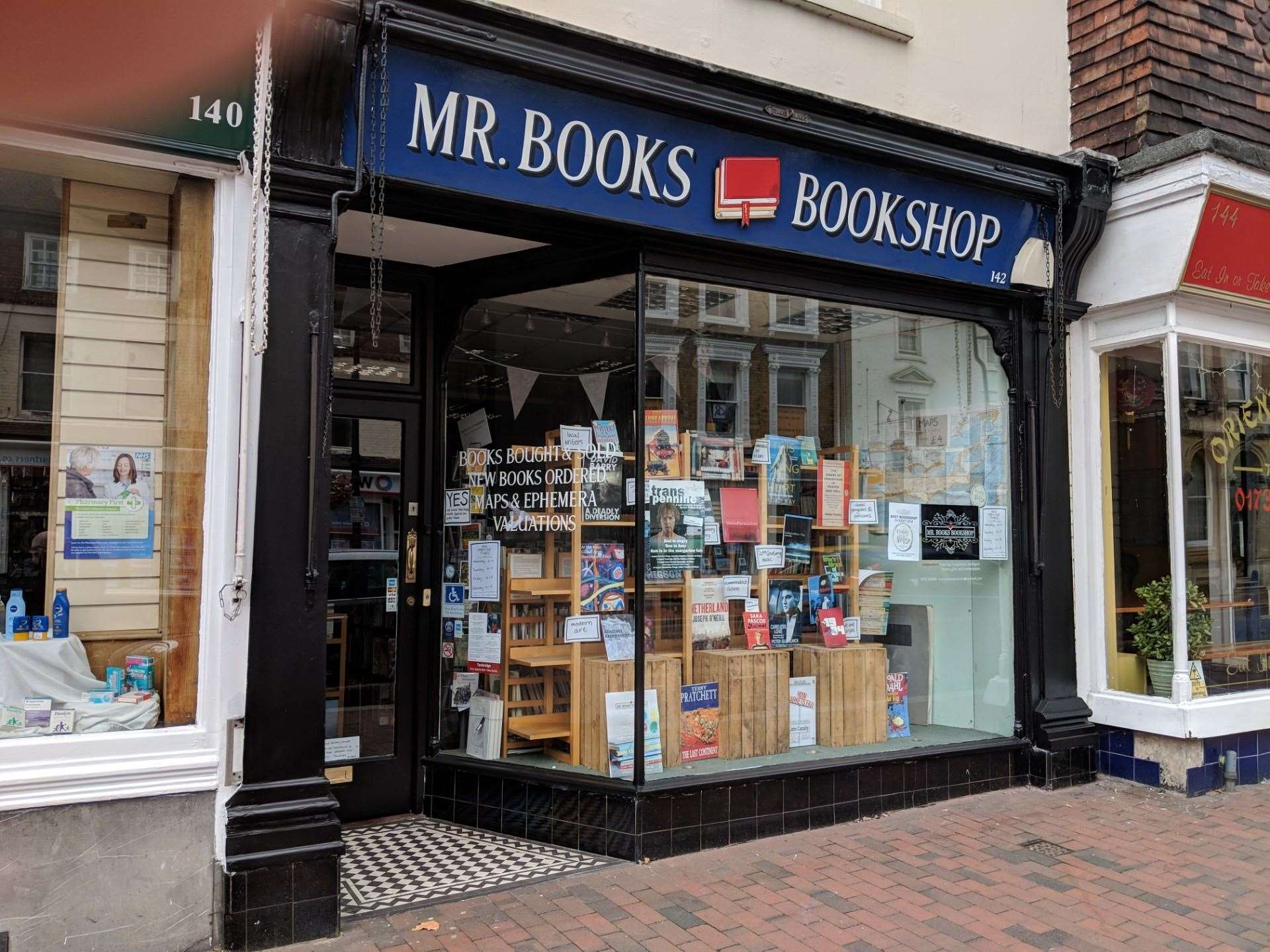 The bookshop has been offering online orders and delivery since closing in March (36222022)