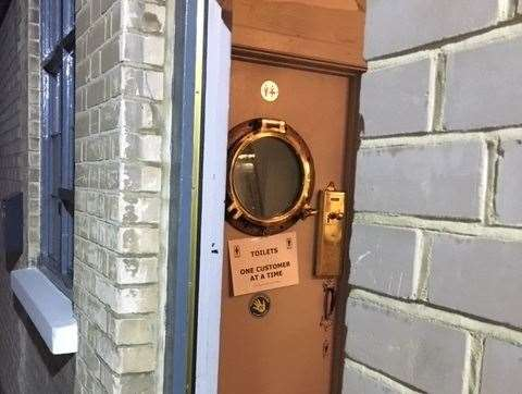 I loved the porthole on the door leading to the toilets and with only one customer allowed at a time it's functional too