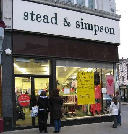 Stead and Simpson in Sheerness town centre, which closed its doors for good on Tuesday. Picture: JAN THOM