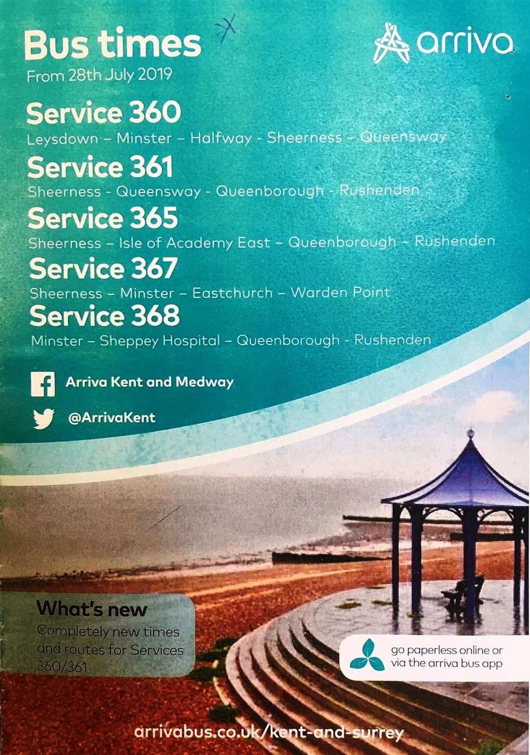 Arriva new bus timetable (15326748)