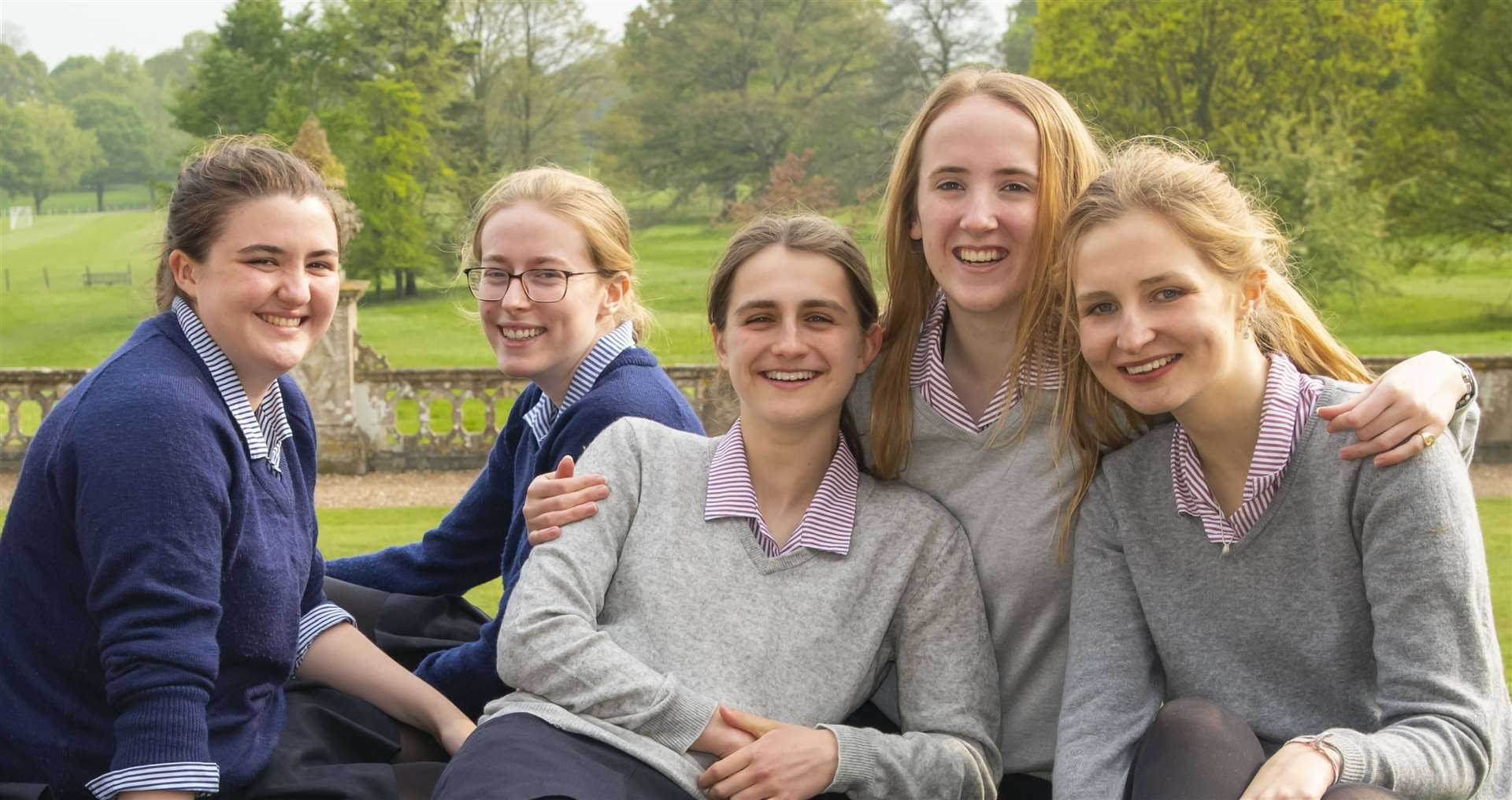 Some of the top A-level performers at Benenden School