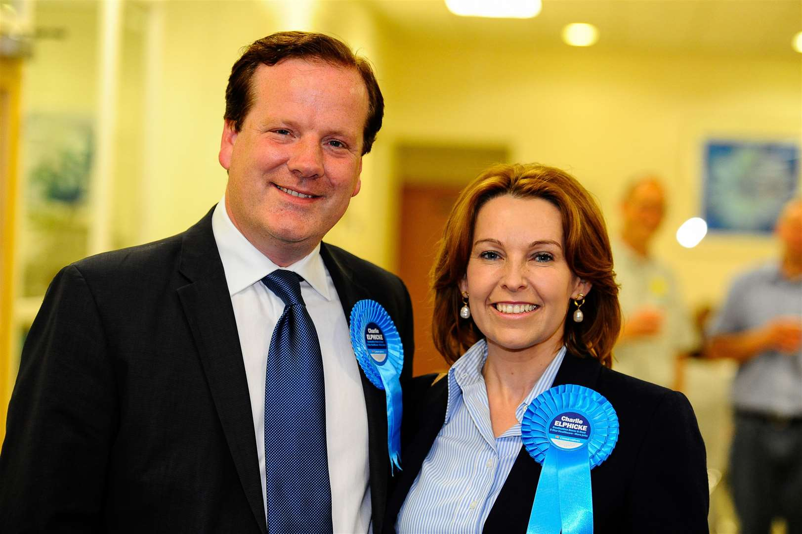 MP for Dover and Deal Natalie Elphicke and her husband Charlie