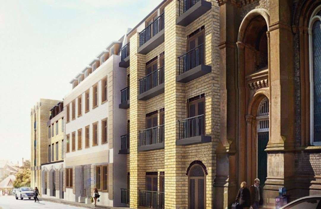 A CGI showing how the 87-flat development could look. Picture: Vidi Construction