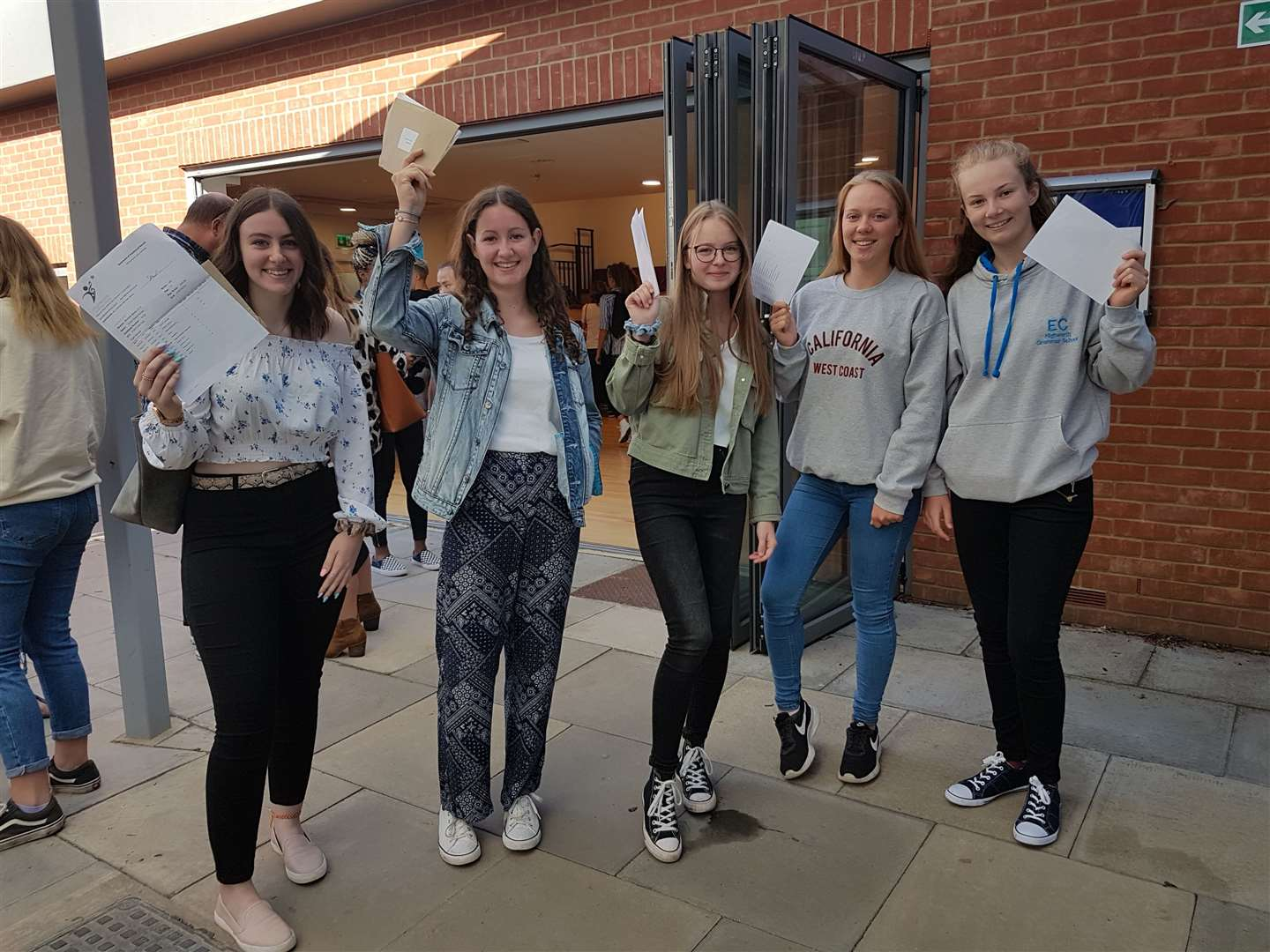 Highworth Grammar School Students were jubilant after opening their result envelopes (15597917)