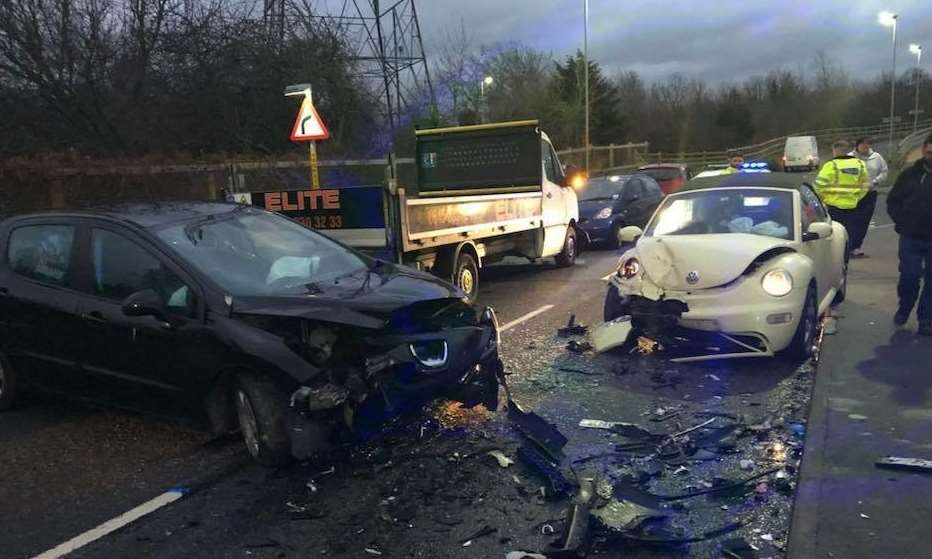 Staff at Ebbsfleet Academy came to the rescue after a four-car collision in Southfleet Road, Swanscombe on Friday, December 15, at around 3pm.
