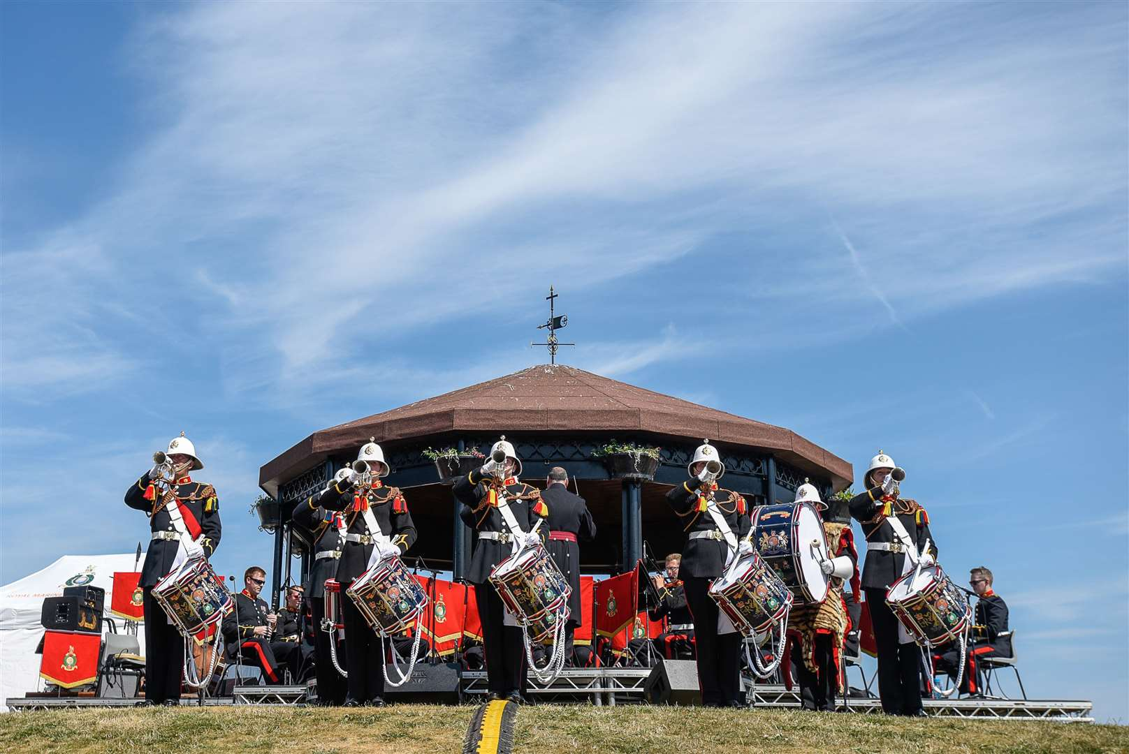 HM Portsmouth Band led by Lt Col Jon Ridley will return to Walmer Green on Sunday