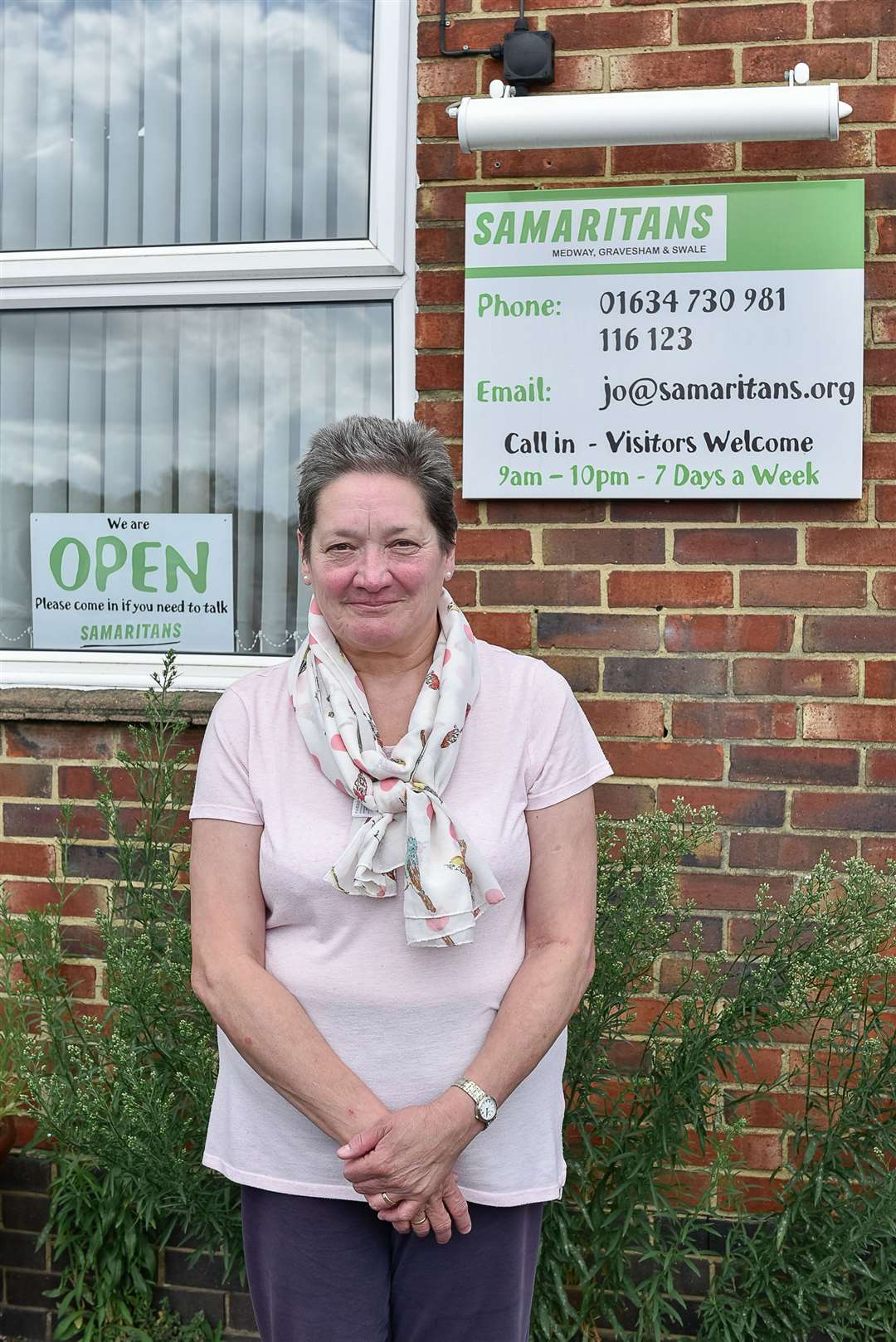 Samaritans volunteer Wendy Bell at The Samaritans offices in Strood. Picture: Tony Jones (15193660)