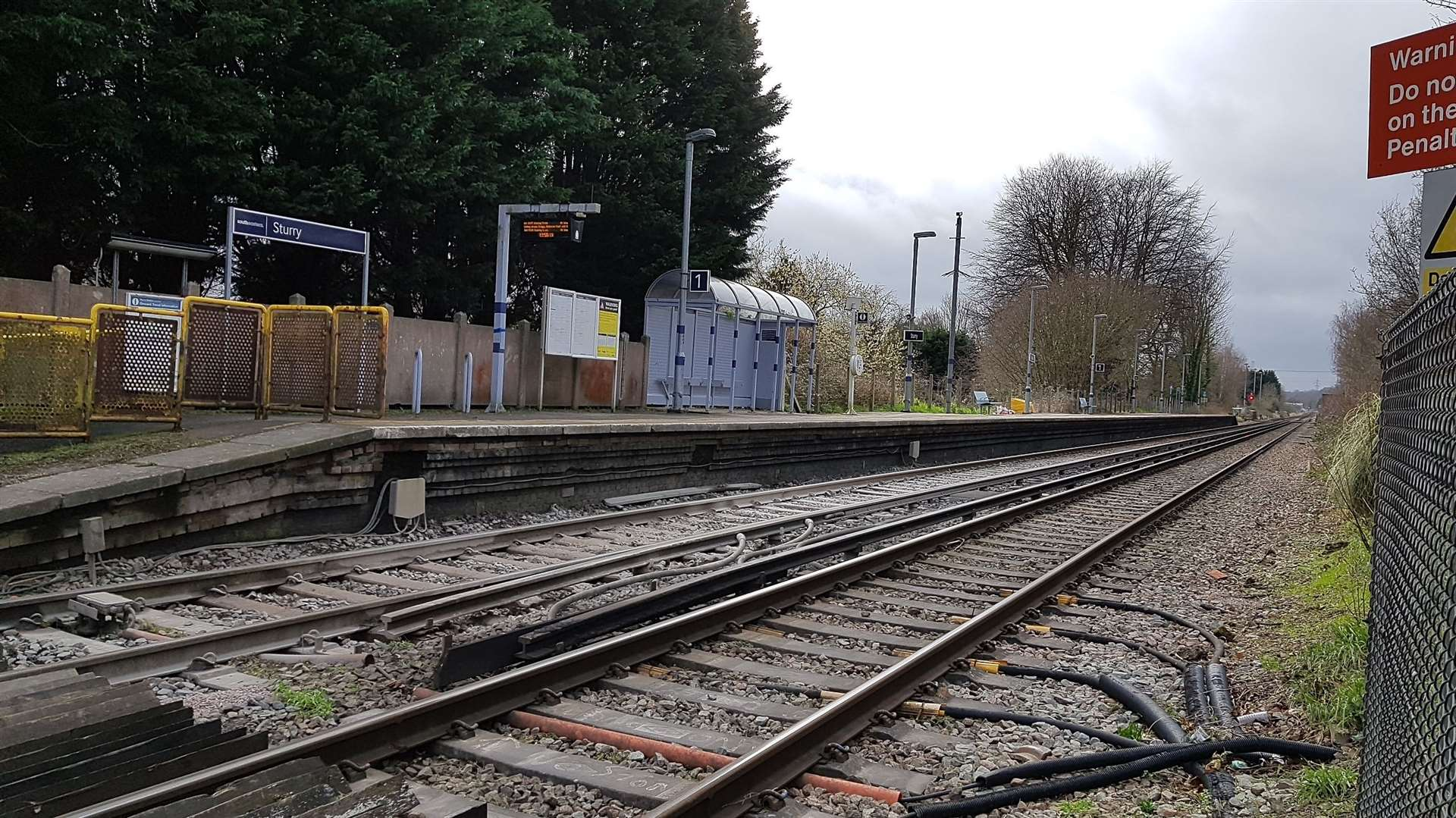 Trains were diverted after a trespasser was found on the line near Sturry railway station
