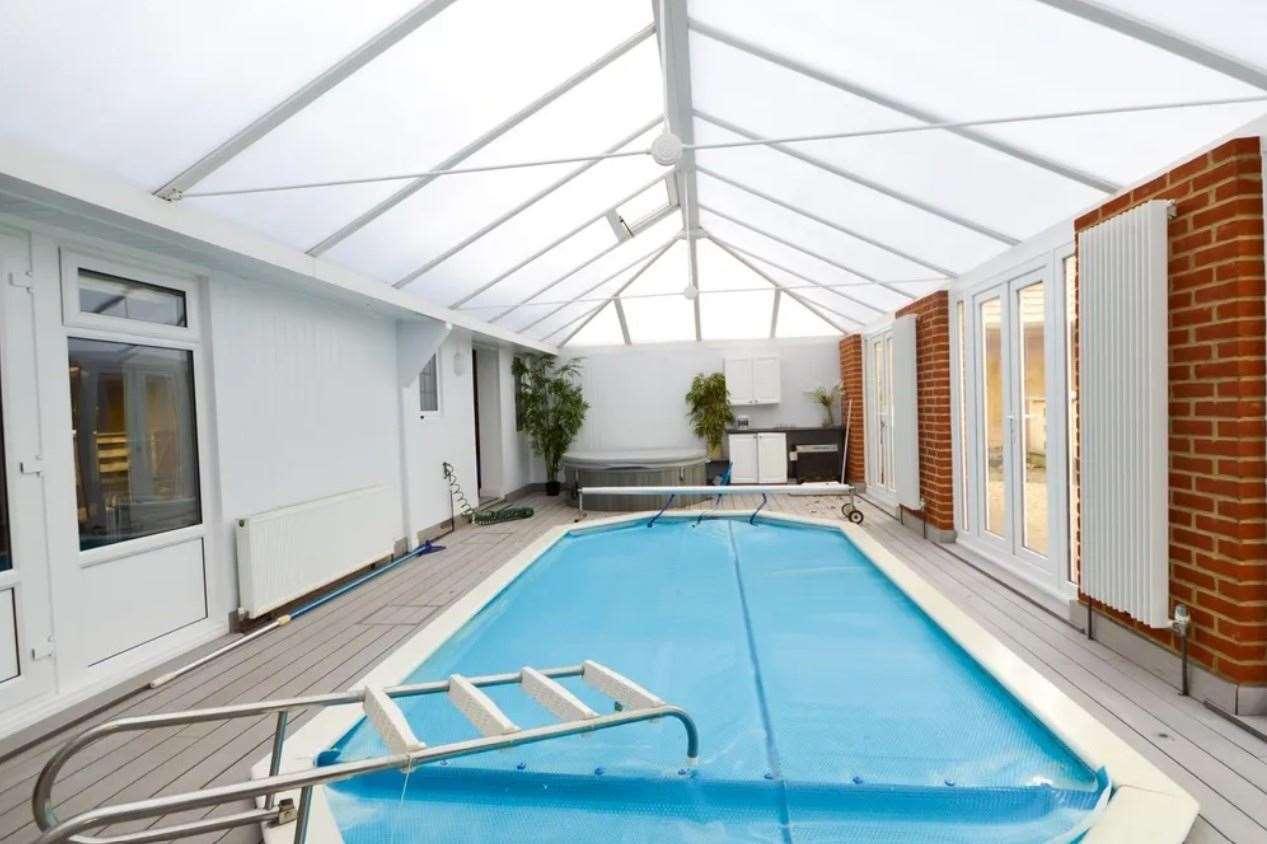 It boasts a heated swimming pool... Picture: Zoopla / Zest
