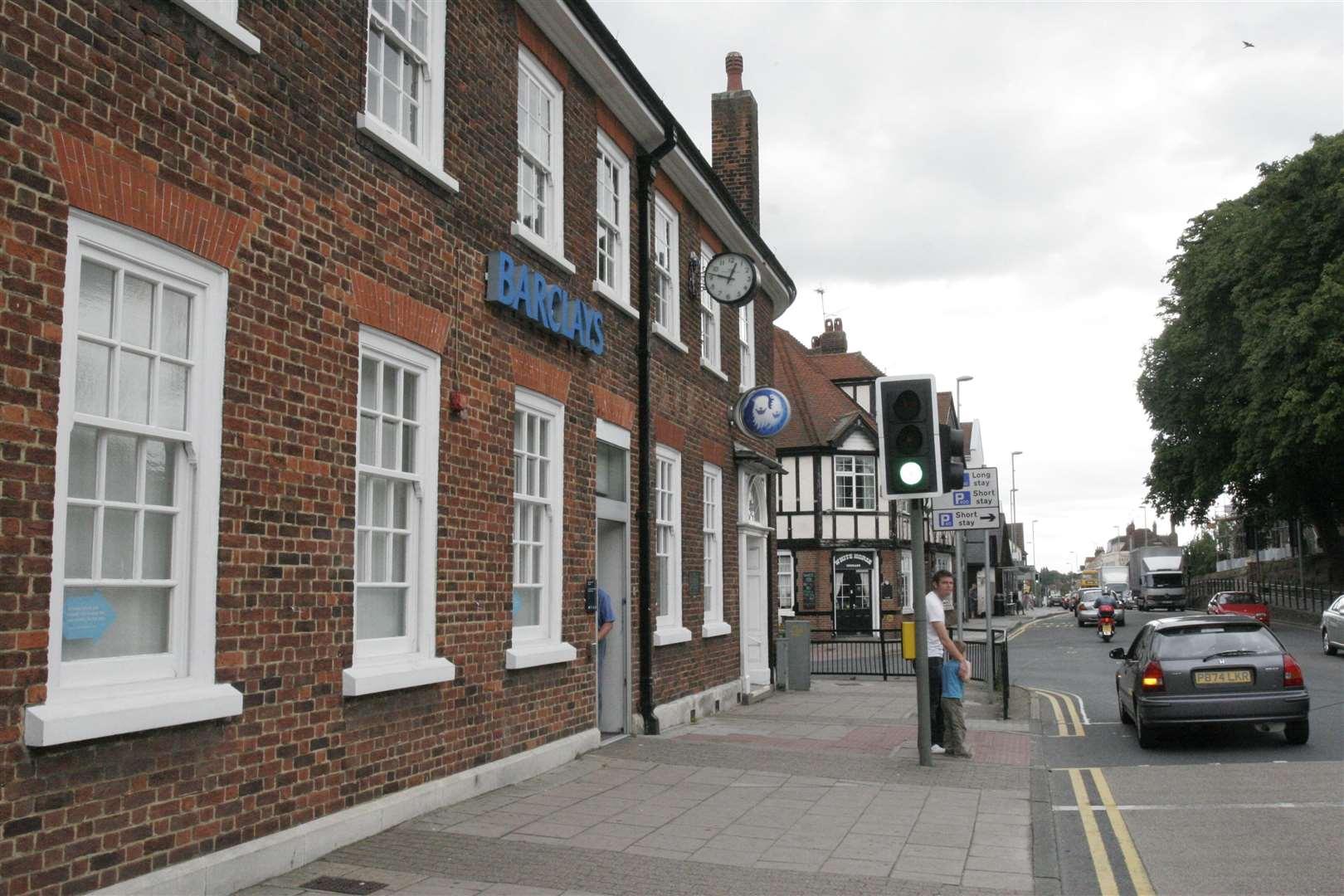 Barclays Bank, London Road, Rainham.  Photo: Peter Still