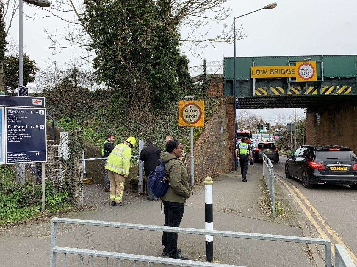 Emergency services at the scene in Chestfield. Picture: James McKinven (7656820)
