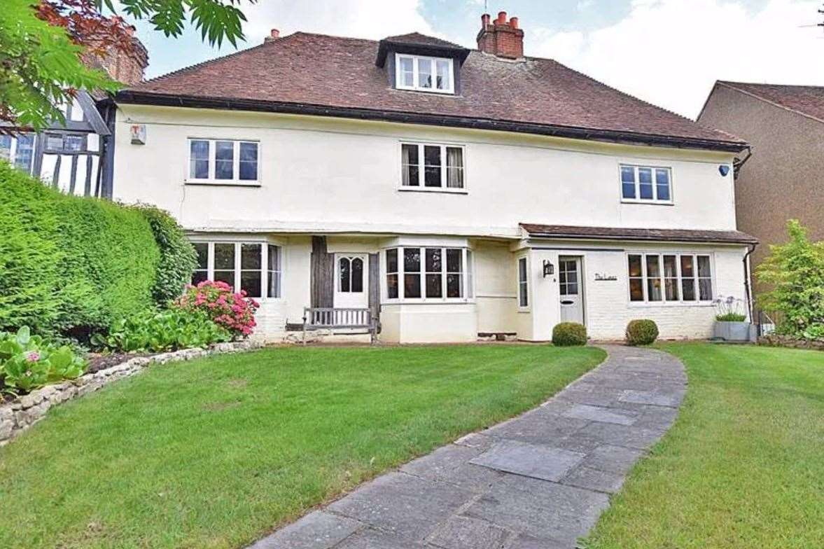 The six-bed semi-detached house in The Green, Bearsted. Picture: Zoopla / Ferris & Co