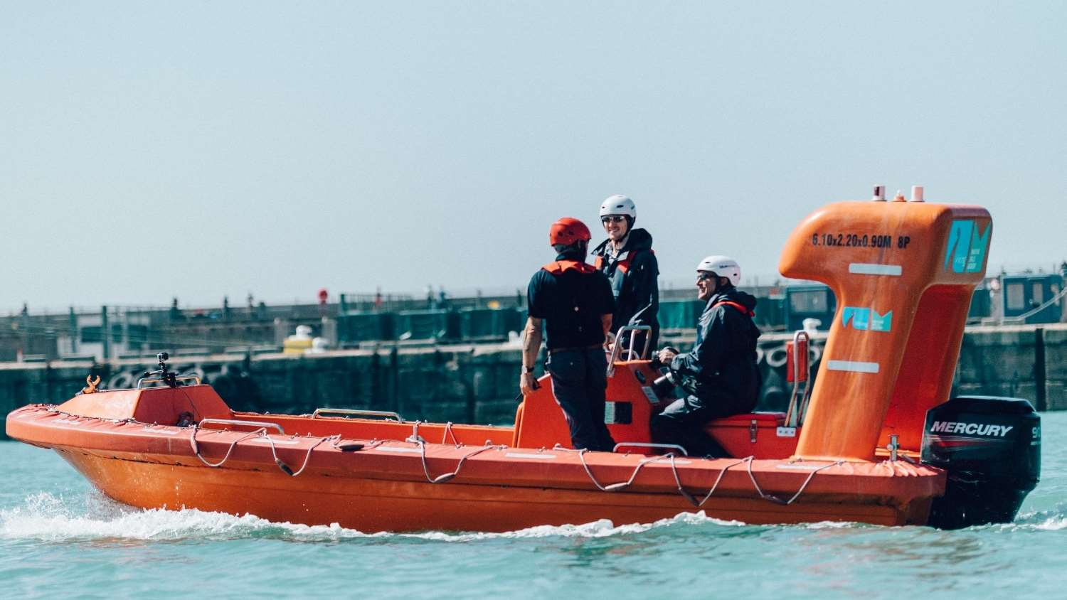 The academy boasts a unique lifeboat centre with direct access to the English Channel.