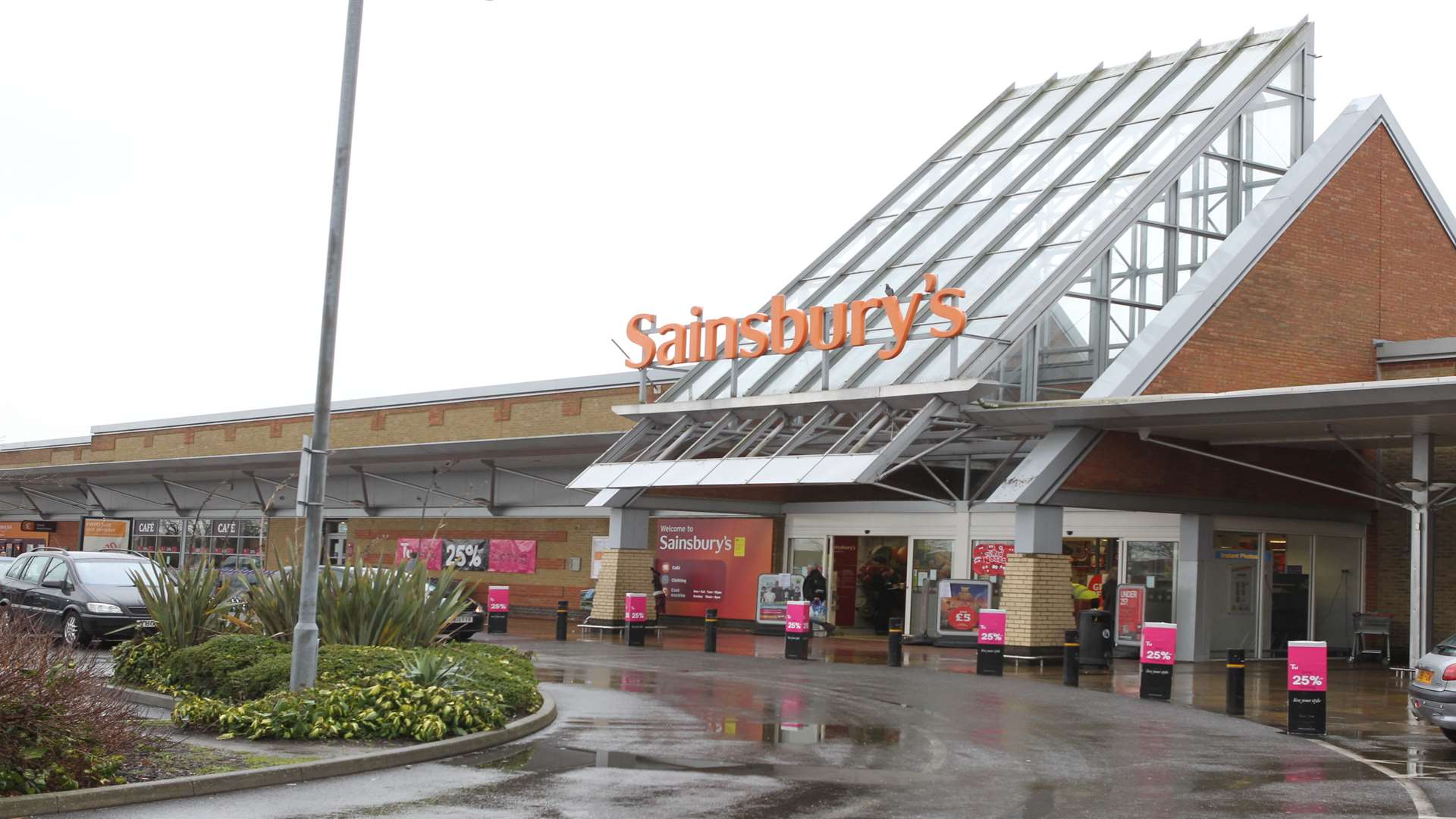Sainsbury Supermarket in Sittingbourne.
