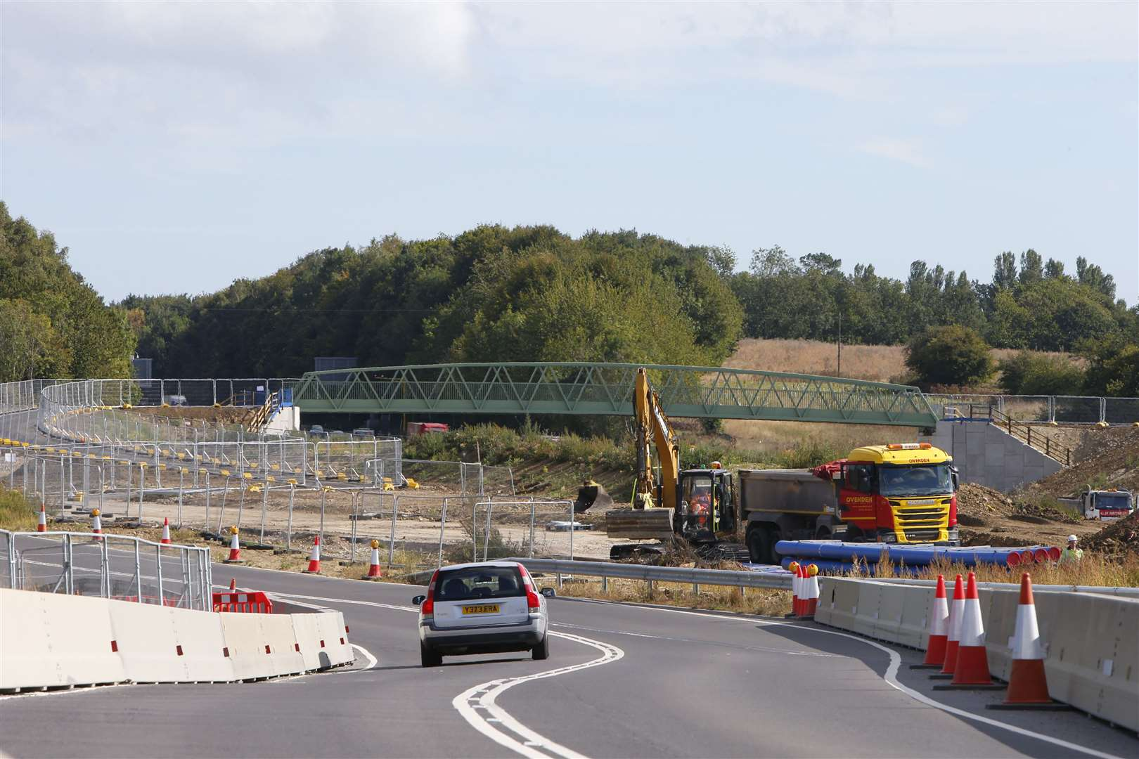 Construction of M20 Junction 10a Picture: Andy Jones
