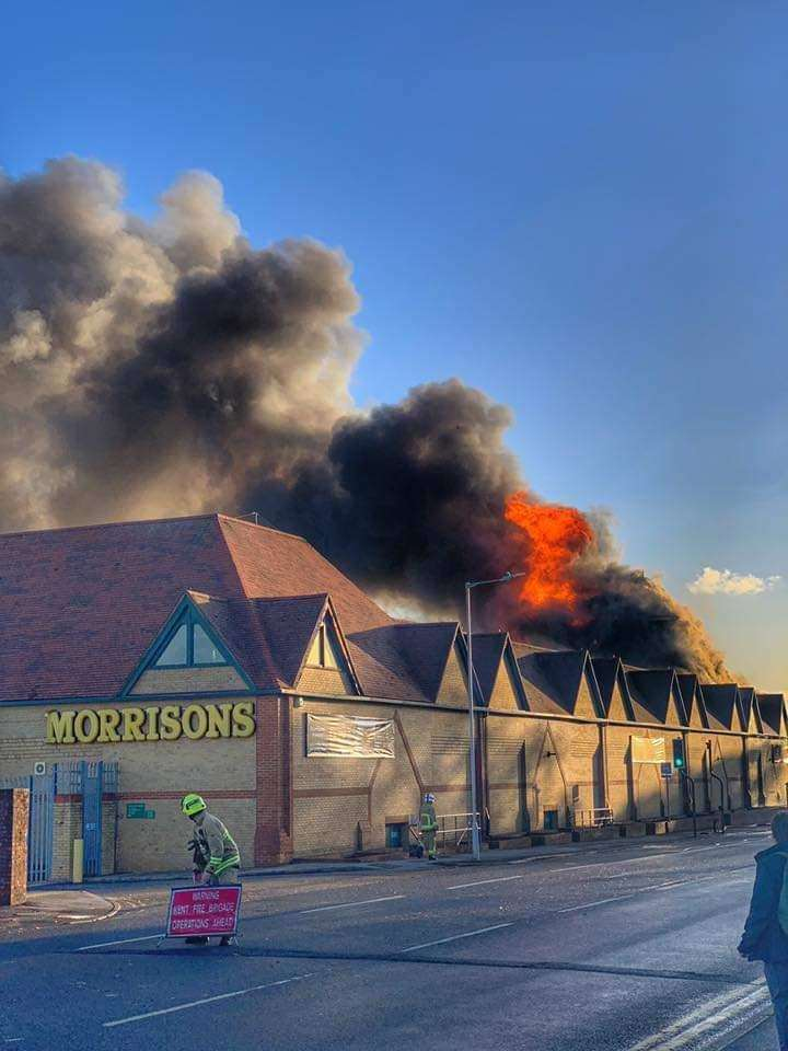 The Morrisons supermarket in Folkestone is on fire (5288587)