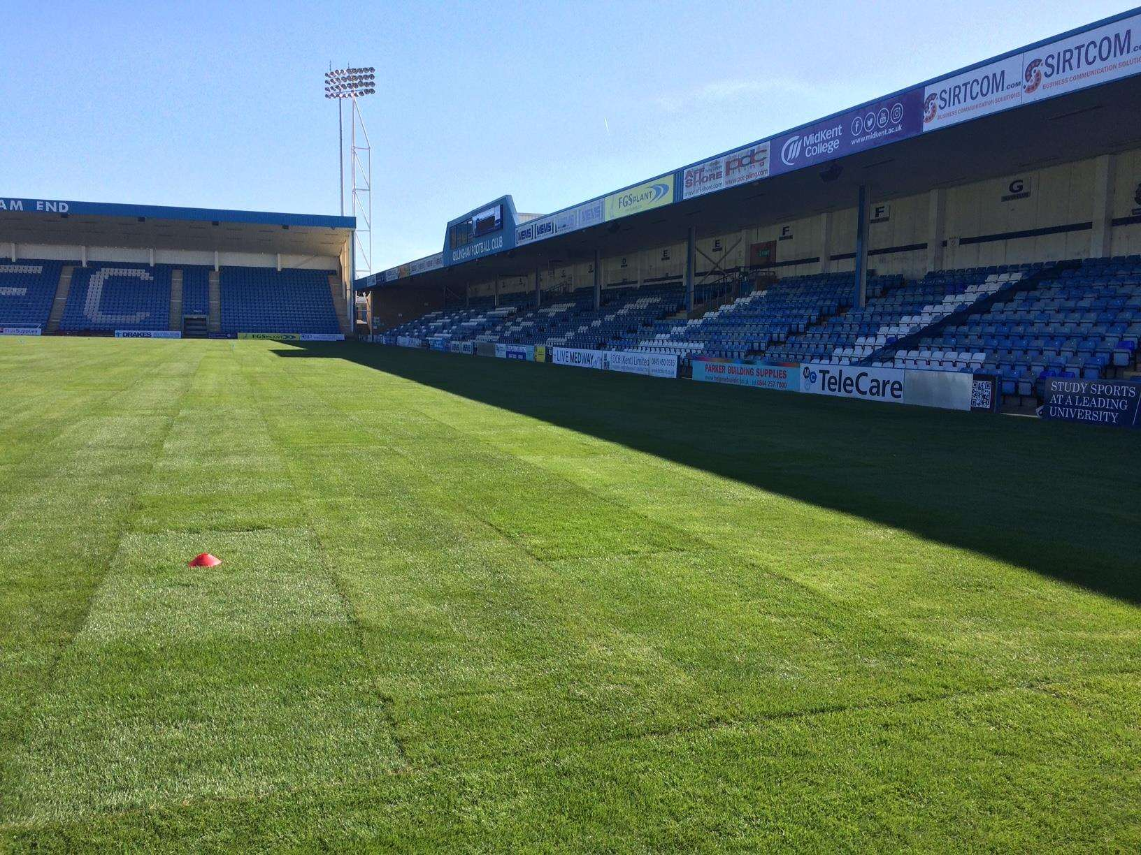 Gillingham's new hybird pitch has been laid