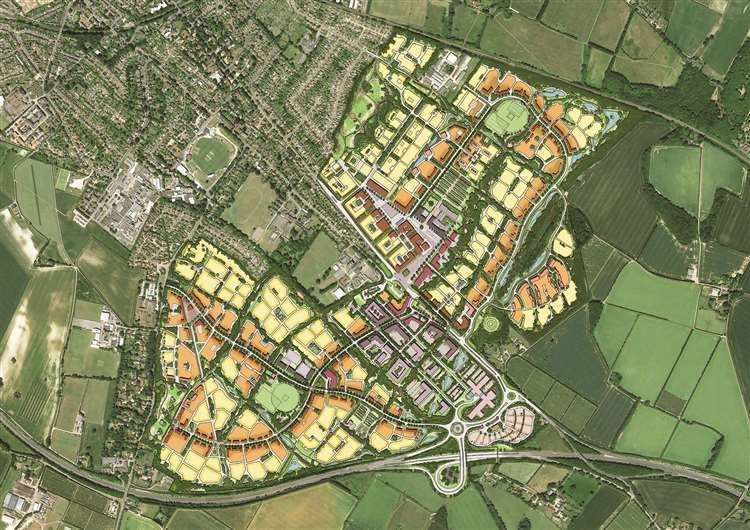 The masterplan for the 4,000-home scheme