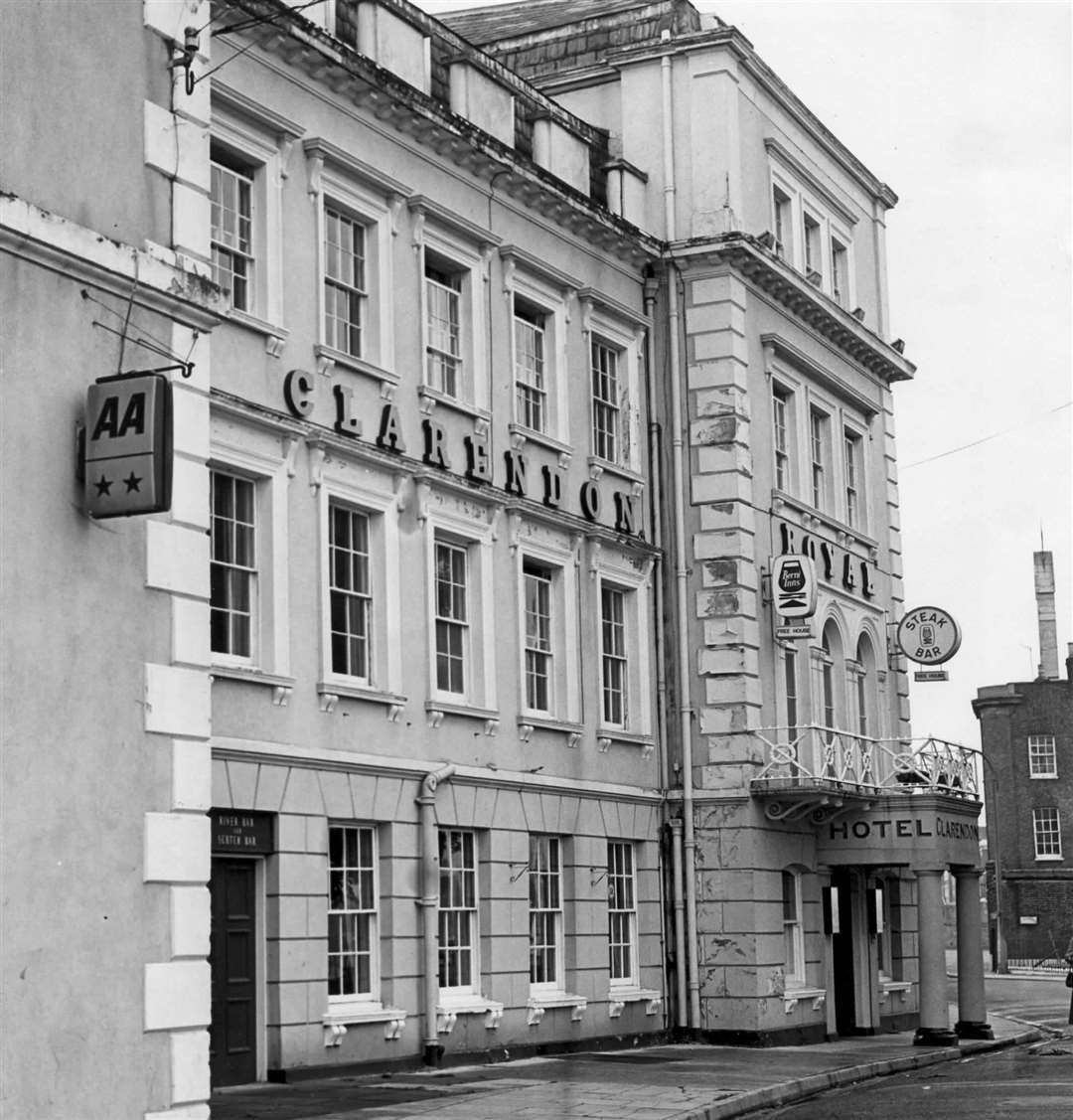 The Clarendon Hotel in Gravesend, pictured in 1980. It was rumoured to have not one ghost but two