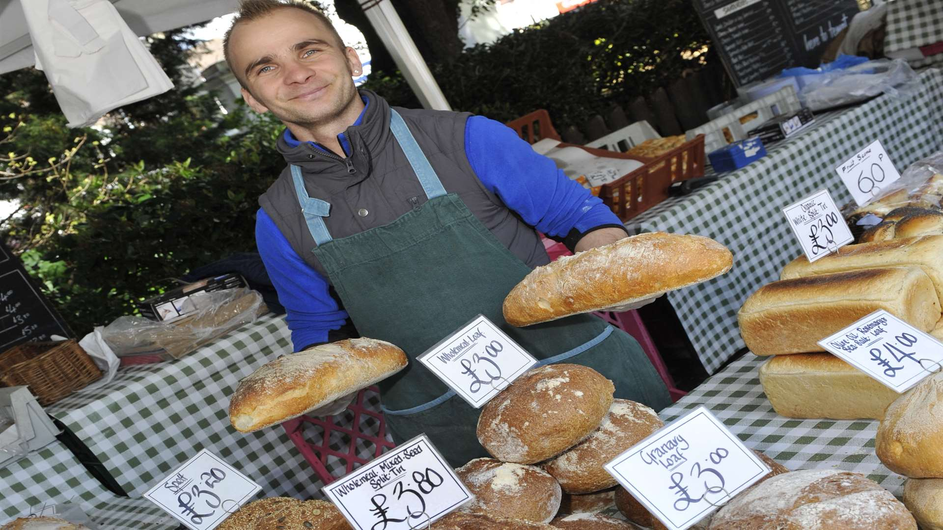 Freshly baked bread at the Broadstairs Food Festival