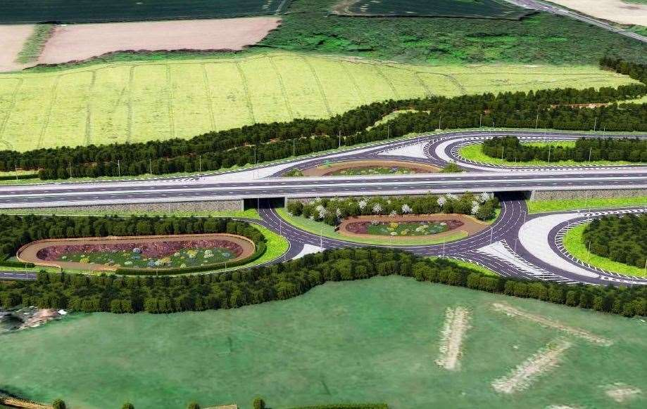 How the new Stockbury roundabout could look from Oad Street