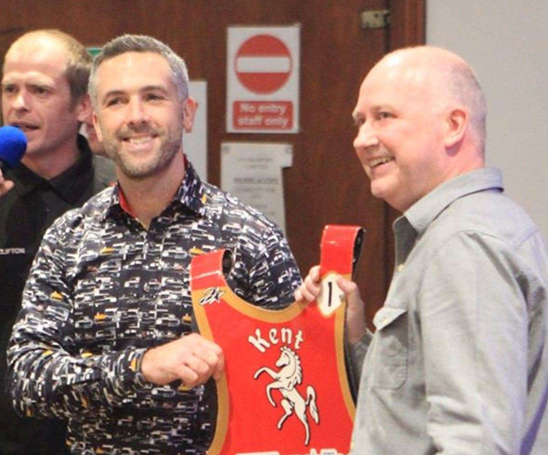 New signing Scott Nicholls was welcomed to Kent Kings in November