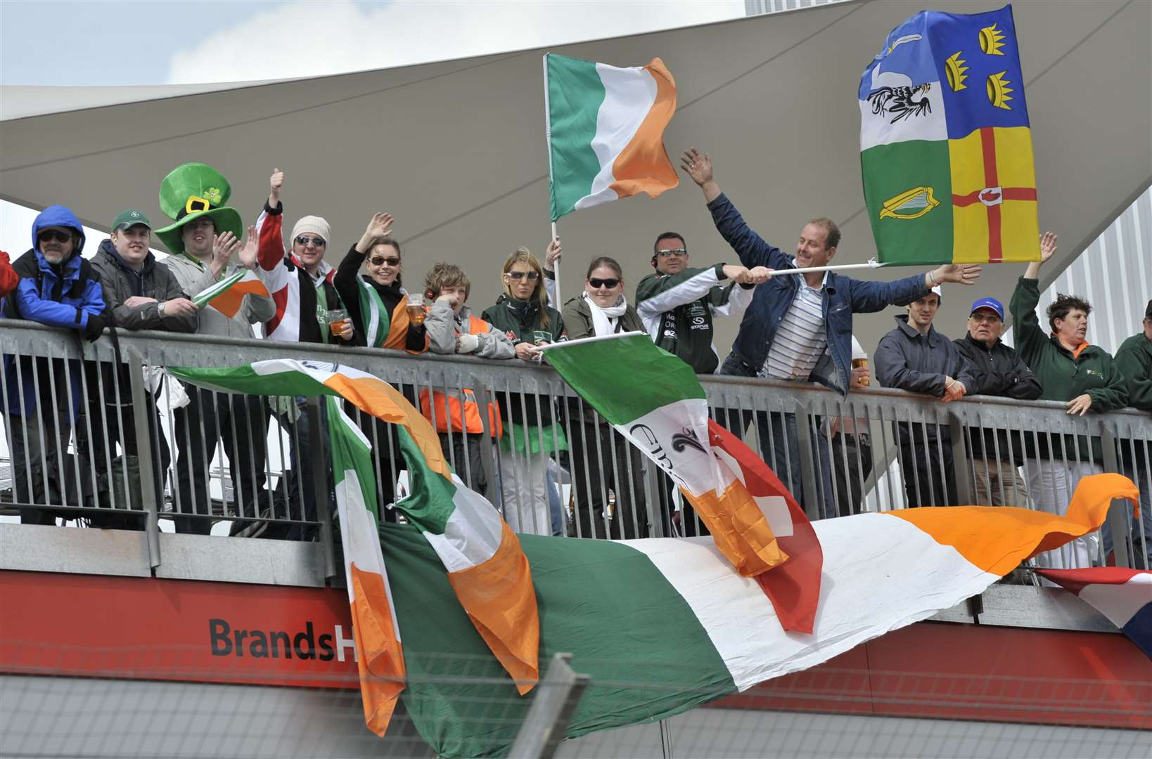 Irish supporters show their loyalty in 2009. Picture: Andy Payton