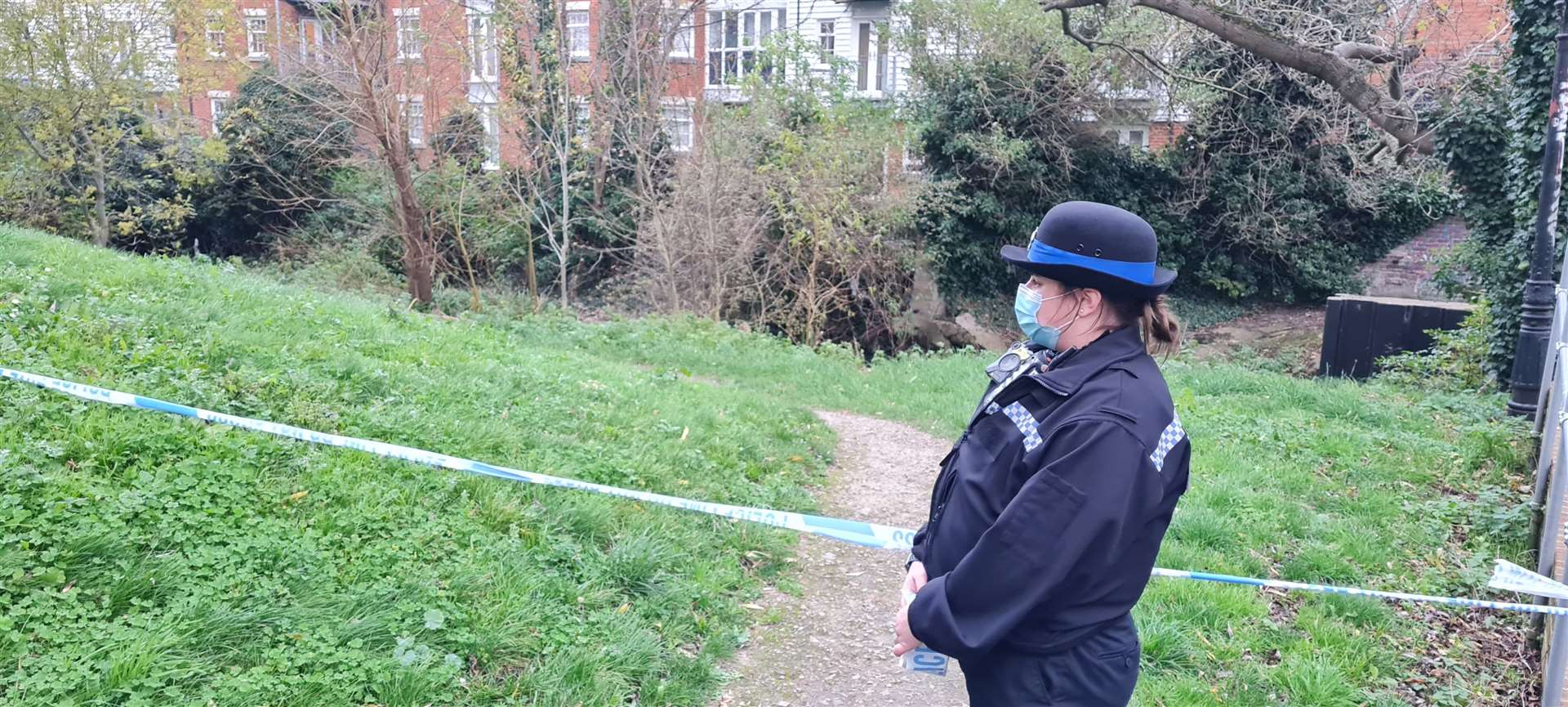 A section of the River Stour has been taped off by police
