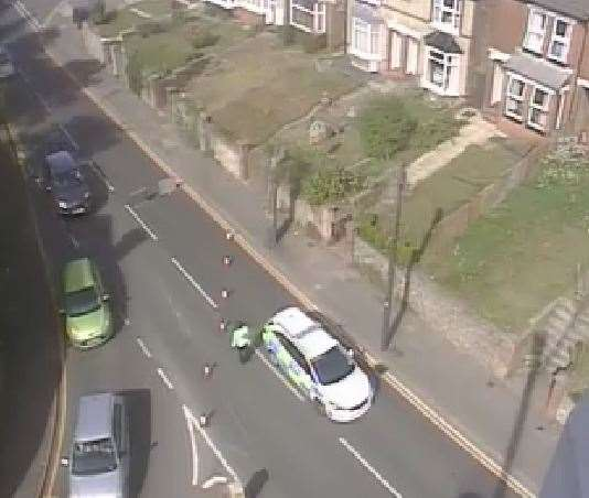 Crash involving a lorry and a pedestrian on Loose Road