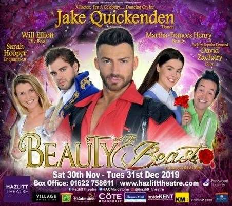 Beauty and the Beast, starring Jake Quickenden, is the Hazlitt Theatre's Christmas panto this year