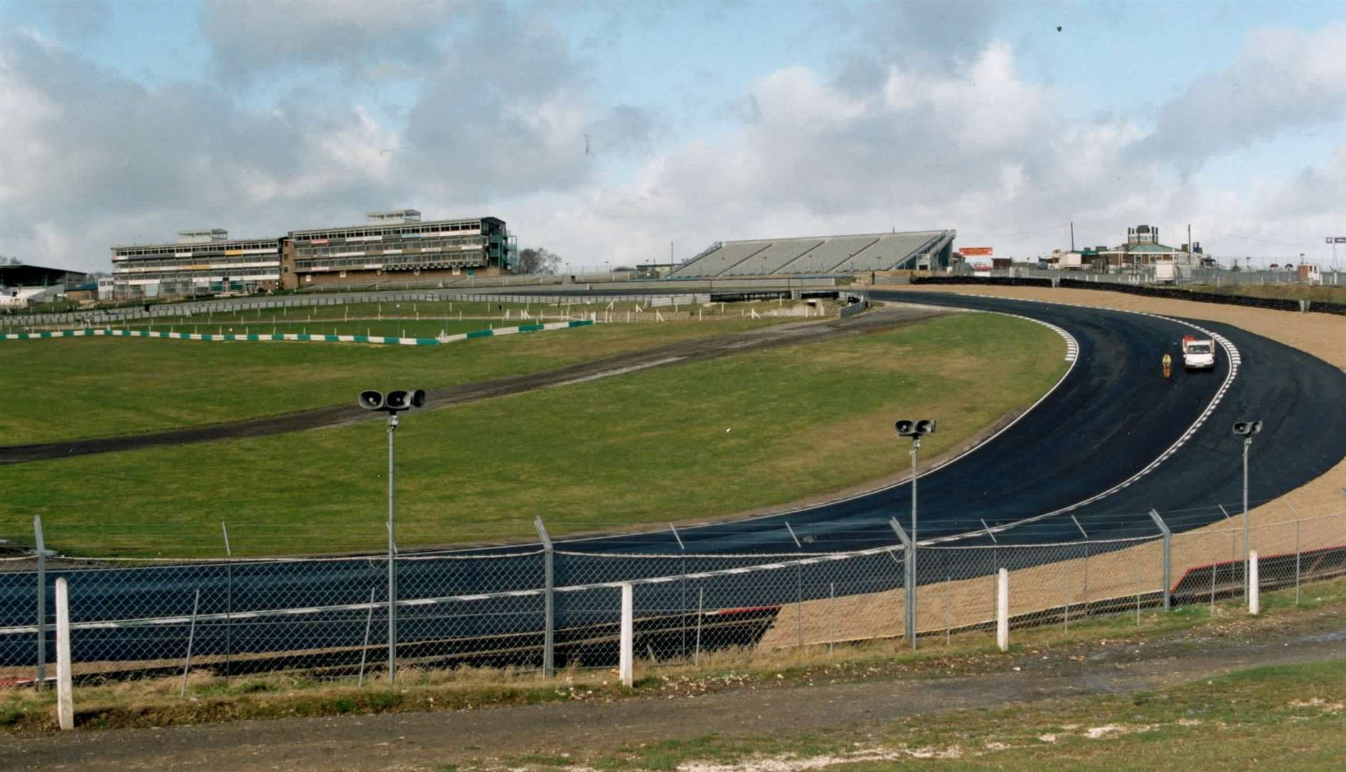 One of the world's best spectator spots - Paddock Hill Bend at Brands Hatch in February 1997