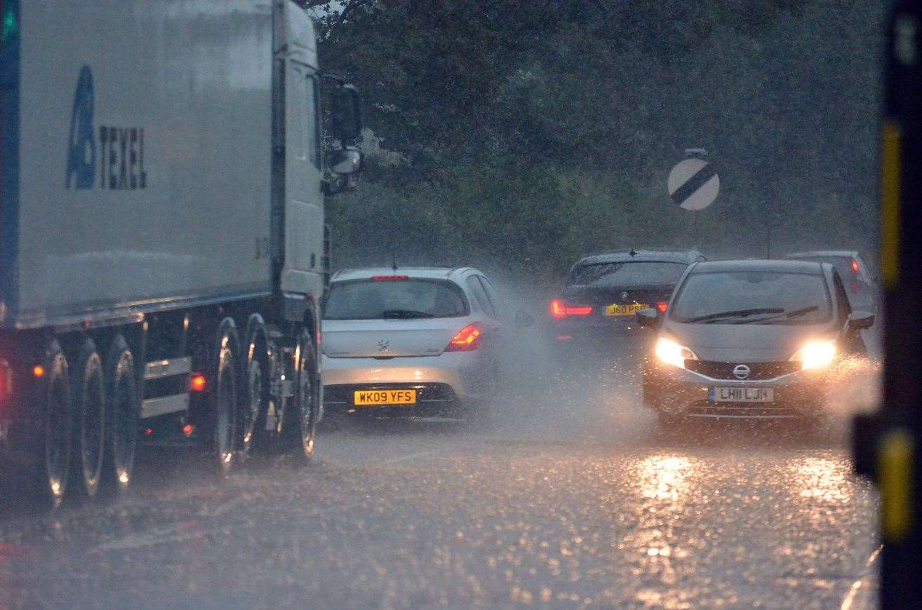 Torrential rain is forecast for Kent