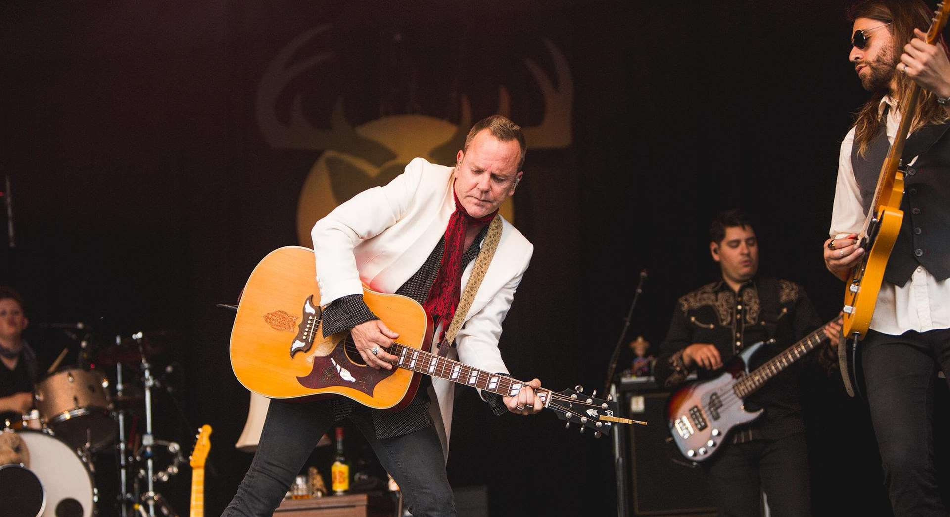 Kiefer Sutherland performed at the first Black Deer Festival Picture: Louise Roberts