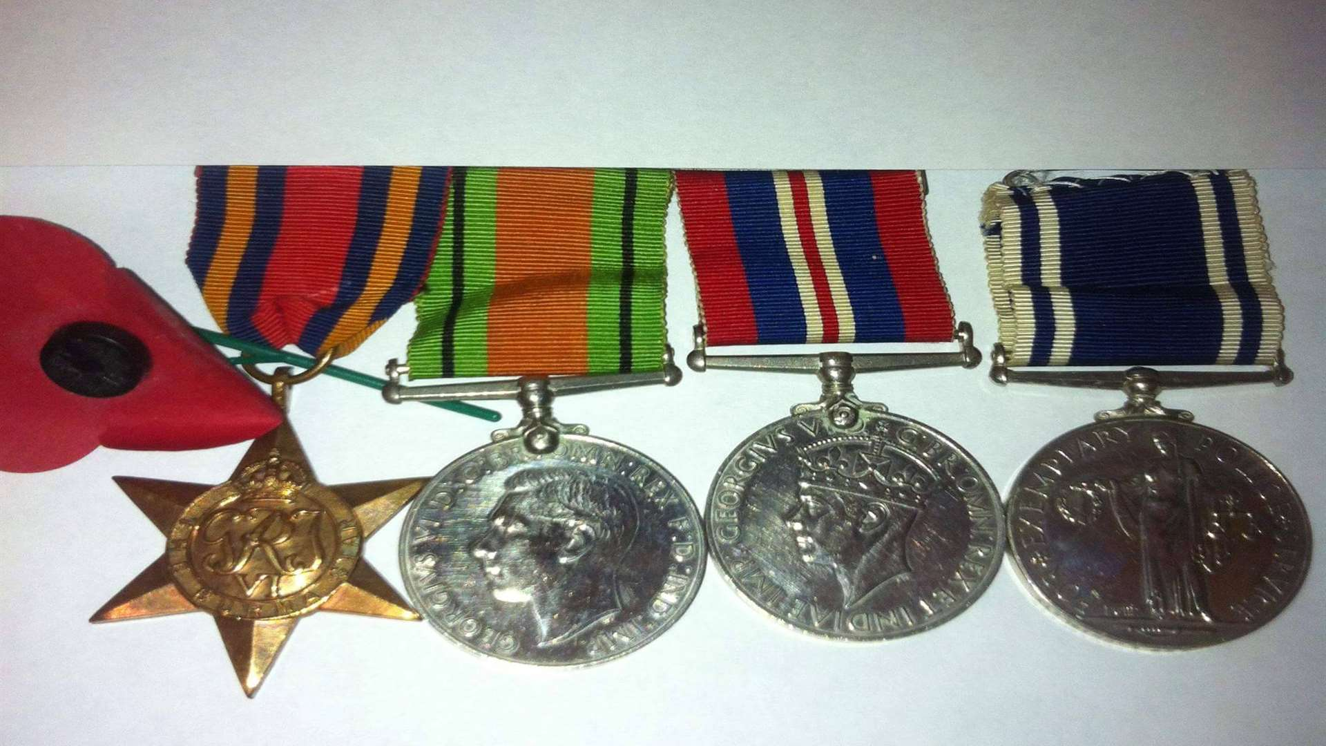 Four medals belonging to Phil's late father Charles Chislet