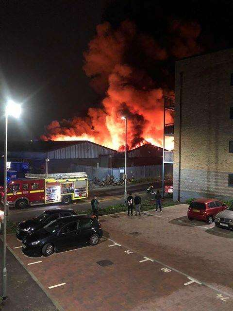 Fire engulfs United Coffee (UCC) in Dartford. Picture: Claire Wheeler (4732948)