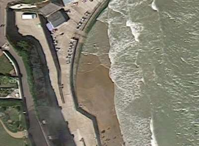 Police were called to reports of a body seen on the beach near Louisa Bay, Broadstairs