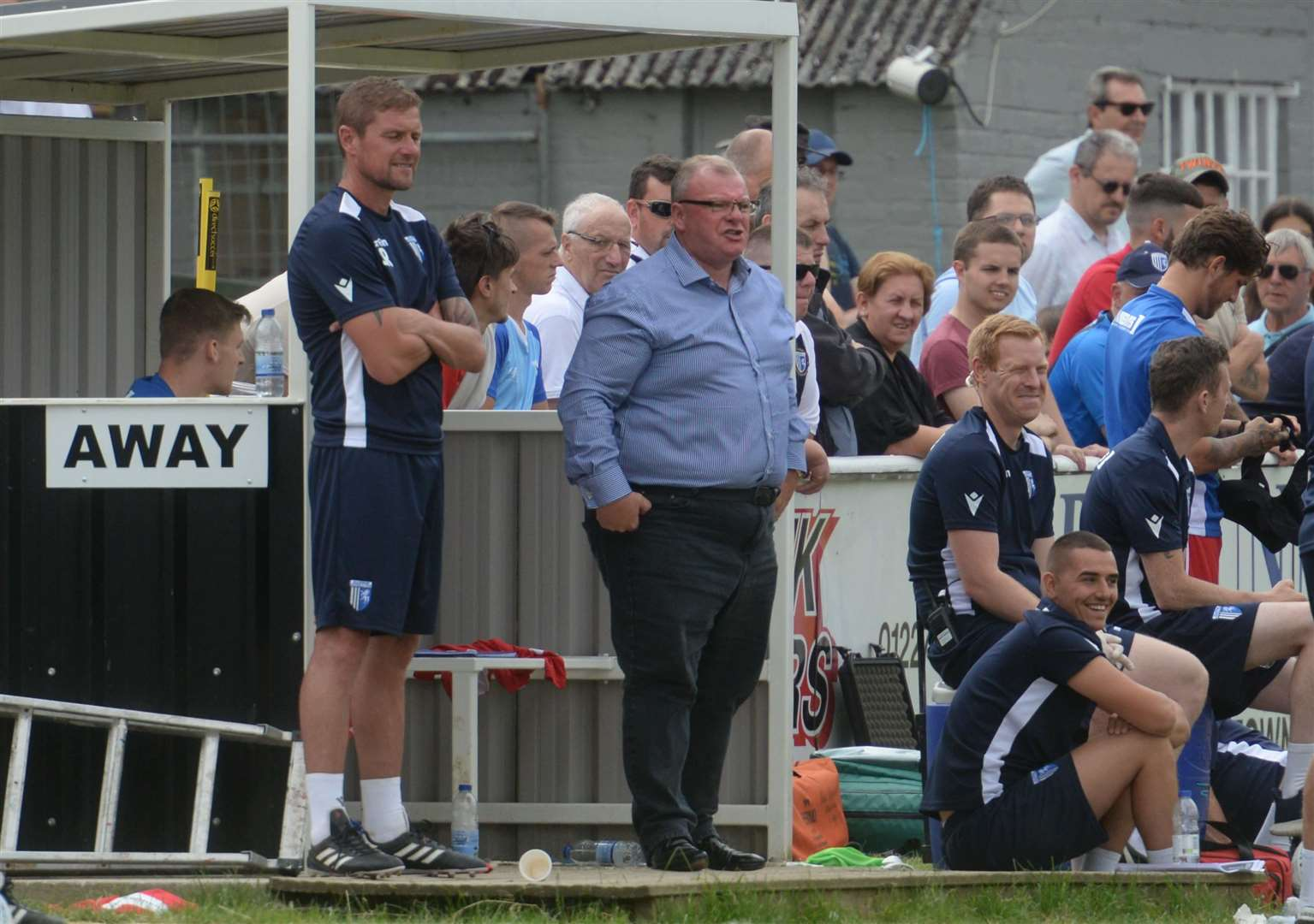 Manager Steve Evans watching from the touchline Picture: Chris Davey