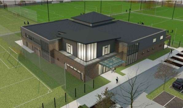 The new clubhouse planned at the former Fleet Leisure site