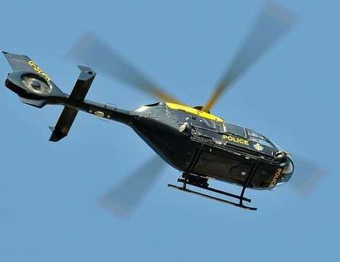 A police helicopter was spotted circling over the Medway City Estate.