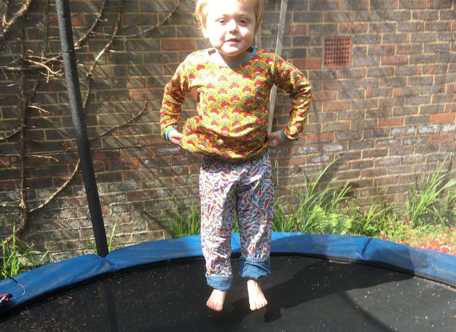Theo, 4, has been raising money for Cystic Fibrosis Trust
