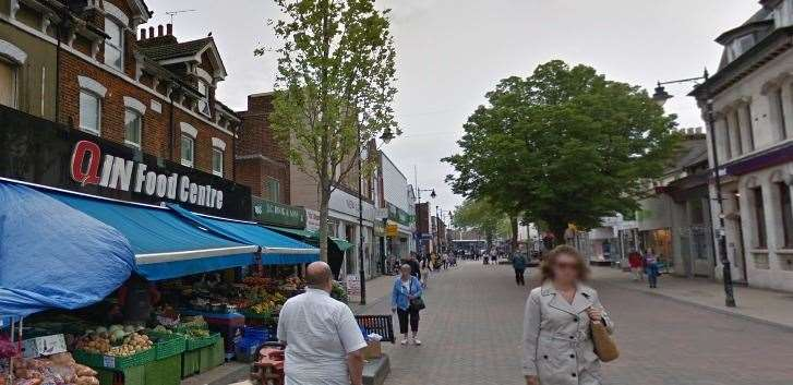 Gillingham Market is held in the High Street twice a week. Picture: Google street view